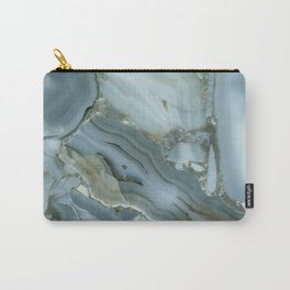 Slate Blue Lace Agate Carry-All Pouch