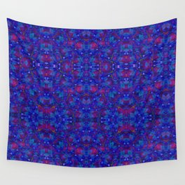 """""""NeonBlue Peace Rose"""" by surrealpete Wall Tapestry"""