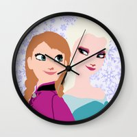 frozen Wall Clocks featuring Frozen by Sammycrafts