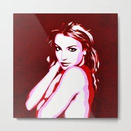 Britney Spears - Pop Art Metal Print