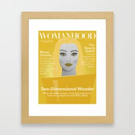 Womanhood Magazine Framed Art Print