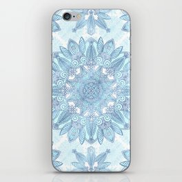 Icy blue mandala iPhone Skin