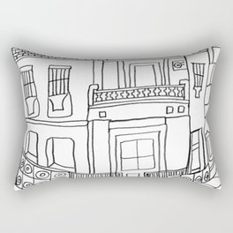 Street View From Andalusia Rectangular Pillow