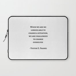 Stoic Wisdom Quotes - Viktor Frankl Laptop Sleeve