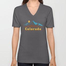 Native Colorado Gifts CO State Flag Colorado Horizon Unisex V-Neck