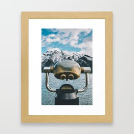 Lake Minnewanka III Framed Art Print