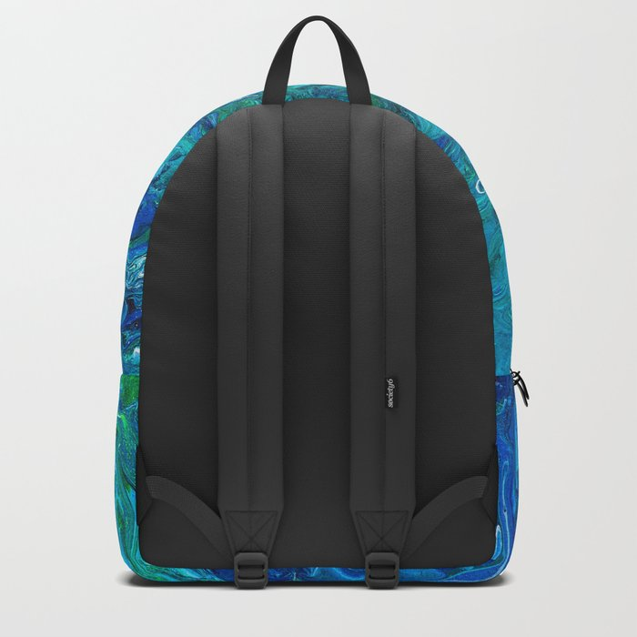 Elegant Crazy Lace Agate 2 - Blue Aqua Backpack