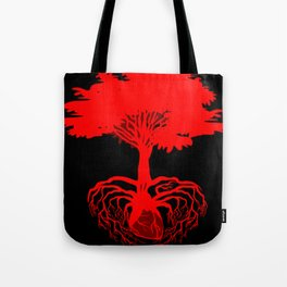 Heart Tree - Red Tote Bag