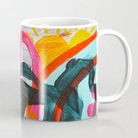 denver Mugs featuring Denver Afternoon by AprilNicole