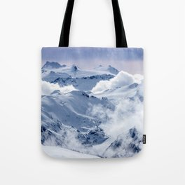 Snowy Mountains and Glaciers Tote Bag