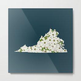 Virginia in Flowers Metal Print