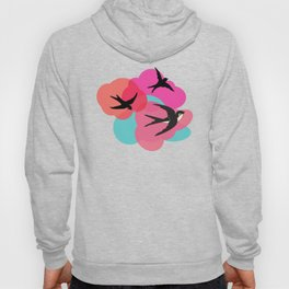 Spring swallows and clouds Hoody