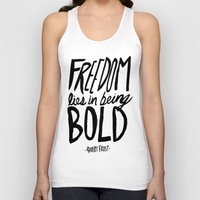 freedom Tank Tops featuring Freedom  by Leah Flores