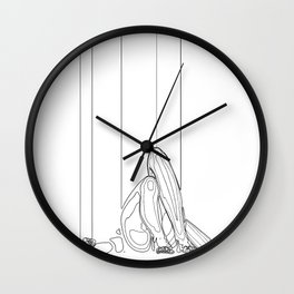 Marionette Two Wall Clock