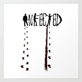 Infected Zombie Art Print