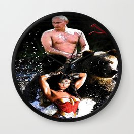 In Chains (WW with VP, Bear, Stream, Hammer and Sickle) Wall Clock