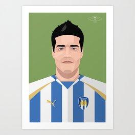 Kem Izzet - Colchester United Legends Art Print