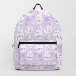 Easter Egg Bunny Pattern - Lilac Backpack