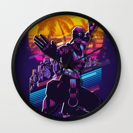 lee sin league of legends game 80s palm vintage Wall Clock