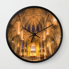 St Patrick's Cathedral New York Wall Clock