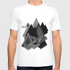 Mountains Inside Mens Fitted Tee White MEDIUM