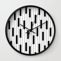piano Wall Clocks featuring Piano by beach please