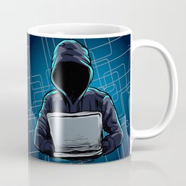 Computer hacker spread a net Coffee Mug