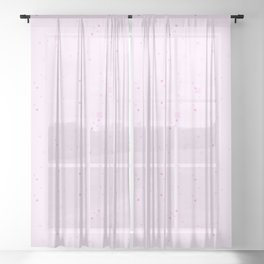 simple geometric pixel pattern 2 magi Sheer Curtain