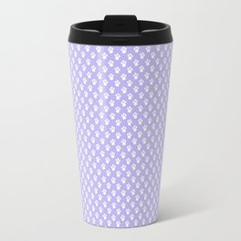 Animal Paw Prints On Lavender Travel Mug