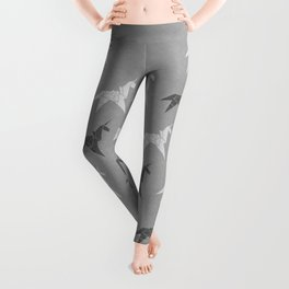 Origami Unicorn Grey Leggings