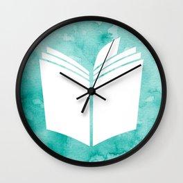 Watercolour Book (Green) Wall Clock