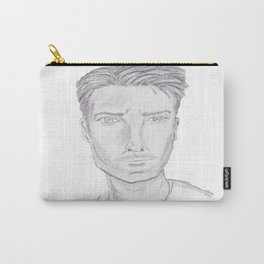 Young Man in Pencil Carry-All Pouch