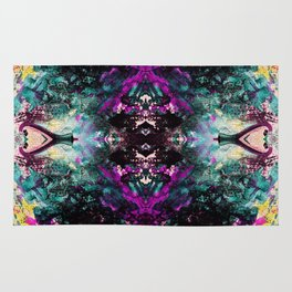 Textured Graffiti Print Rug