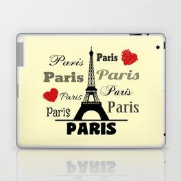 Paris text design illustration 2 Laptop & iPad Skin