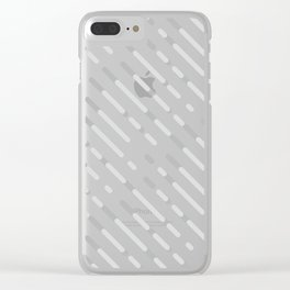 Gray Abstract geometric background #society6 #decor #buyart #artprint Clear iPhone Case