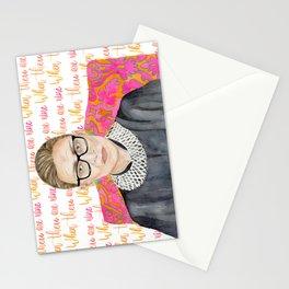 """Ruth Bader Ginsburg """"RBG"""" Watercolor Stationery Cards"""