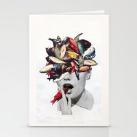 eugenia loli Stationery Cards featuring Ωmega-3 by Eugenia Loli
