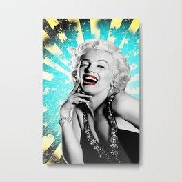Marylin Monroe Poster, Sexy Marylin Monroe Print, Wall Art Printed On Canvas Metal Print