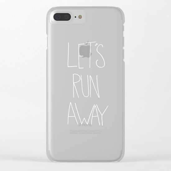Let's Run Away to NYC Clear iPhone Case