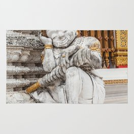 sleeping guardian of the temple Rug