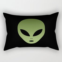 Extraterrestrial Alien Face Rectangular Pillow