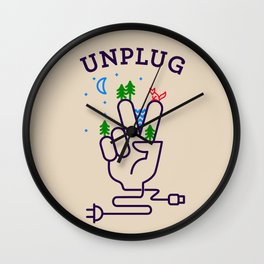 Unplug Wall Clock