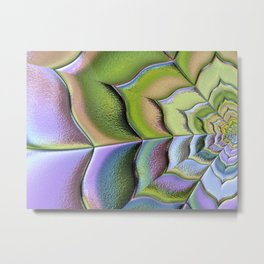 Frosted Glass Panel Metal Print