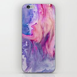 ultra violet marble fun iPhone Skin