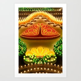 Colorful decorations Art Print