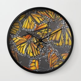 Traveling Monarch Wall Clock