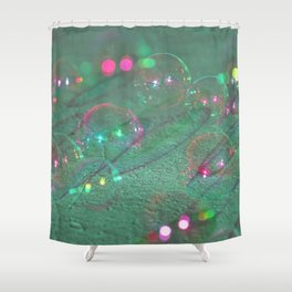 Space Bubbles Shower Curtain