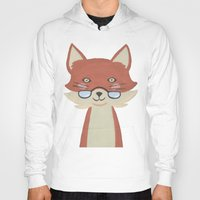 mr fox Hoodies featuring Mr. Fox by Kelly Rae Bahr