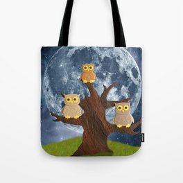 Owling at the Moon Tote Bag