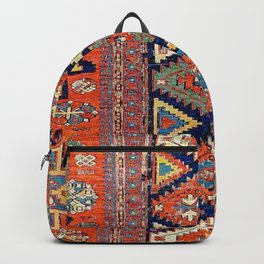 Southwestern Farmhouse II // 19th Century Colorful Red Yellow Blue Green Aztec Farm Stars Pattern Backpack